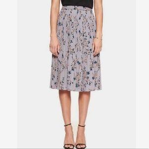 NWT Banana Republic grey floral skirt S
